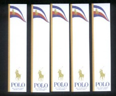 5 X Singapore Perfume Cards Cartes Parfumees --  Ralph Lauren POLO RED , WHITE & BLUE - Cartes Parfumées