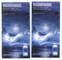 2 X Singapore Perfume Cards Cartes Parfumees --  RISINGWAVE - Perfume Cards
