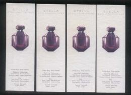 4 X Singapore Perfume Cards Cartes Parfumees --   STELLA McCARTNEY  STELLA - Perfume Cards