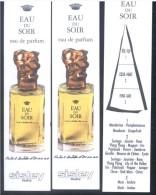 3 X Singapore Perfume Cards Cartes Parfumees --  SISLEY EAU DU SOIR EDP - Perfume Cards