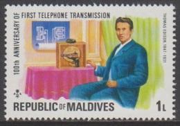 1976 - MALDIVES - Y&T 600 - Thomas Alva Edison (1847-1931) (MNH/**) - Maldives (1965-...)