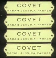 4 X Singapore Perfume Cards Cartes Parfumees -- Sarah Jessica Parker COVET - Cartas Perfumadas