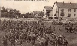 Cpa 1914, LE VALDAHON, Arrivée De La Troupe Au Camp, Belle Animation    (45.39) - Manoeuvres