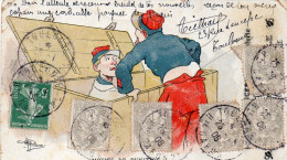 Cpa 1908,  MOTIFS DE PUNITION, Le Coffre à Avoine Dessin De Guillaume (45.42) - Humour