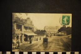 CP, 14, CABOURG Le Grand Hôtel Vue Prise De La Rue De La Mer N° 15 Voyagé - Cabourg