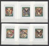 Comores Butterflies Birds Scouts Papillons Mariposas 1989 Mi Bl#287-292B MNH - Neufs