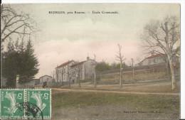 CPA - - Riorges Près Roanne - Ecole Communale - Colorisée - Riorges