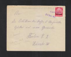 Dt. Reich Lothringen Brief 1941 Gorschen Nach Berlin - Bezetting 1938-45