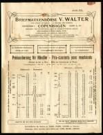 1916 V. Walter Briefmarken-Börse Copenhagen Scandinavian Philatelic Magazine, The Stamp Exchange, La Bourse Des Timbres - Riviste