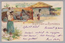 AK Rumänien Idylle 1900-03-19 Litho - Roumanie