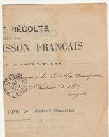 """Cad """"Imprimé 2 PP21 Paris"""" Imprimé Sous Bande """"Guano Français Des Iles Loffoden"""" 1890 - Storia Postale"""
