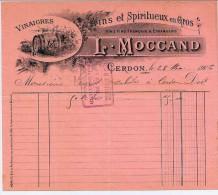 45 - CERDON - L. MOCAND - VINS ET SPIRITUEUX - VINAIGRES - Non Classificati