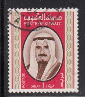 Kuwait Used Scott #762 1d Sheik Sabah - Koweït