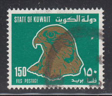 Kuwait Used Scott #1150 150f Hawk, Green & Gold - Koweït