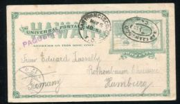HAWAII STATIONERY SAN FRANCISCO PAQUEBOT GERMANY 1899 - 1847-99 General Issues