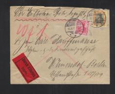 Dt. Reich  Exspres Brief 1913 Wilhelmsdorf - Briefe U. Dokumente