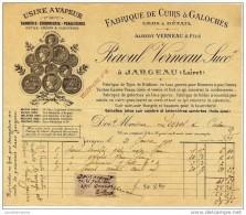 45 - JARGEAU - RAOUL VERNEAU - FABRIQUE DE CUIRS ET GALOCHES - Non Classificati