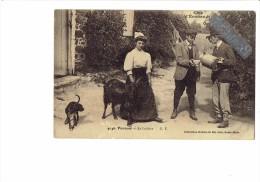 PARAME - La Laitière - Femme Chèvre Homme Garçon Bidon De Lait Chien - Côte D'Émeraude - Coll Germain - - Bauern