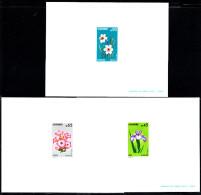 ANDORRE - N° 234/236 - Epreuves De Luxe -  Fleurs Des Vallées D´ Andorre - Iris - Tabac - Narcisse. - Plants