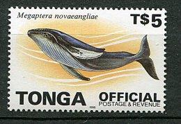 (cl.28 - P3) (lot 1) Tonga ** Officiel (ref. Michel Au Dos) - Baleines  - - Tonga (1970-...)