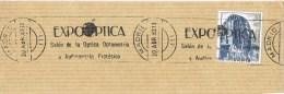 12497. Fragmento Rodillo MADRID 1983. EXPO OPTICA. Audiometria - 1931-Hoy: 2ª República - ... Juan Carlos I