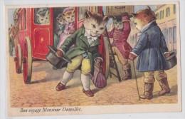 Bon Voyage Monsieur Dumollet - Chats Habillés - Chat Humanisé - Calèche  - Cocher - SP - Chats