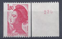 LIBERTE N° 2223a - N° Rouge De ROULETTE - NEUF SANS CHARNIERE - LUXE - Roulettes