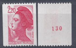 LIBERTE N° 2379a - N° Rouge De ROULETTE - NEUF SANS CHARNIERE - LUXE - Roulettes