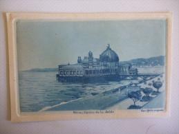 Nice , Casino De La Jetée , Eau Forte Originale , Embossée , Sépia Bleu Circa 1930 - Nice