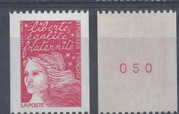MARIANNE De LUQUET N° 3084a - N° Rouge De ROULETTE - NEUF SANS CHARNIERE - LUXE - Roulettes