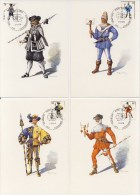 4 Maximumkaarten Zwitserland 1974 - Cartes-Maximum (CM)