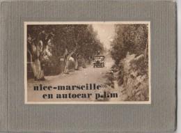 ALBUM TOURISTIQUE - NICE MARSEILLE EN AUTOCAR PLM - Dépliants Touristiques
