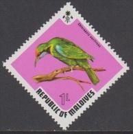 1973 - MALDIVES - Y&T 429 -  Chloropsis Aurifrons (MNH/**) - Maldives (1965-...)