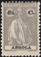 ANGOLA - Scott #128 Ceres (Name & Value In Black) / Mint H Stamp - Angola
