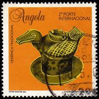 ANGOLA - Scott #932 Traditional Ceramic: Bird-shapped Vase / Used Stamp - Angola