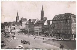 STR 148 - CPA STRASBOURG - Place Kléber Avec Tramway - Strasbourg