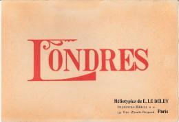 ALBUM TOURISTIQUE - LONDRES - HELIOTYPIES DE E LE DELEY - Dépliants Touristiques