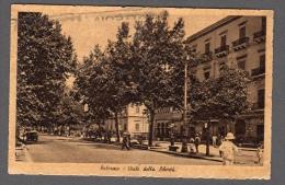 1942 PALERMO VIALE DELLA LIBERTA' FP V SEE 2 SCANS ANIMATA VIGILE TARGHETTA - Palermo