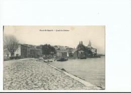 CPA ____ 30 - PONT ST ESPRIT ----- Quai Du Rhône - Pont-Saint-Esprit