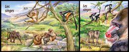 nig15211ab Niger 2015 Monkeys 2 s/s