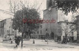 (84) PERTUIS - Place Mirabeau - Dos Vierge - TTBE - 2 SCANS - Pertuis
