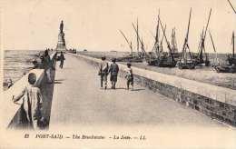 PORT SAID 1927 - The Breakwater, La Jetèe, Orig.2 Fach Frankierung - Port Said