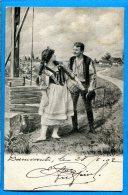 FR635, Couples De Paysan, Précurseur, Fantaisie, Circulée 1902 - Couples