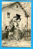 FR636, Couples De Paysan, Vacher, Précurseur, Fantaisie, Circulée 1902 - Couples