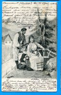 FR637, Couples De Paysan, R. Mosinger, Suisse, Schweiz, Fantaisie,  Précurseur, Circulée 1902 - Couples