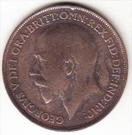 GRAN BRETAÑA 1918  1  PENNY (UN PENIQUE) GEORGE  V  MBC    CN4291 - 1902-1971 : Monedas Post-Victorianas