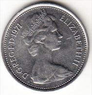 GRAN BRETAÑA 1971  5   NEW PENCE (5  PENIQUES NUEVOS ) ELISABETH II  NUEVA SIN CIRCULAR   CN4291 - 1971-… : Monedas Decimales