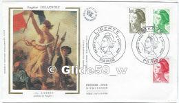 FDC - Premier Jour D´Emission - Eugène Delacroix - La Liberté Guidant Le Peuple - Paris - Premier Jour 4 Janv. 1982 (1 - - FDC