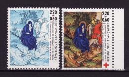 Variété Très RARE !!!!! Timbre Croix Rouge N° 2498 ** - Bleue Au Lieu De Multicolore - Francia