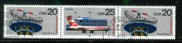 DDR 1980: Mi.-Nr. 2516-2519 WZd. 449  Interflug,     Gest. - DDR